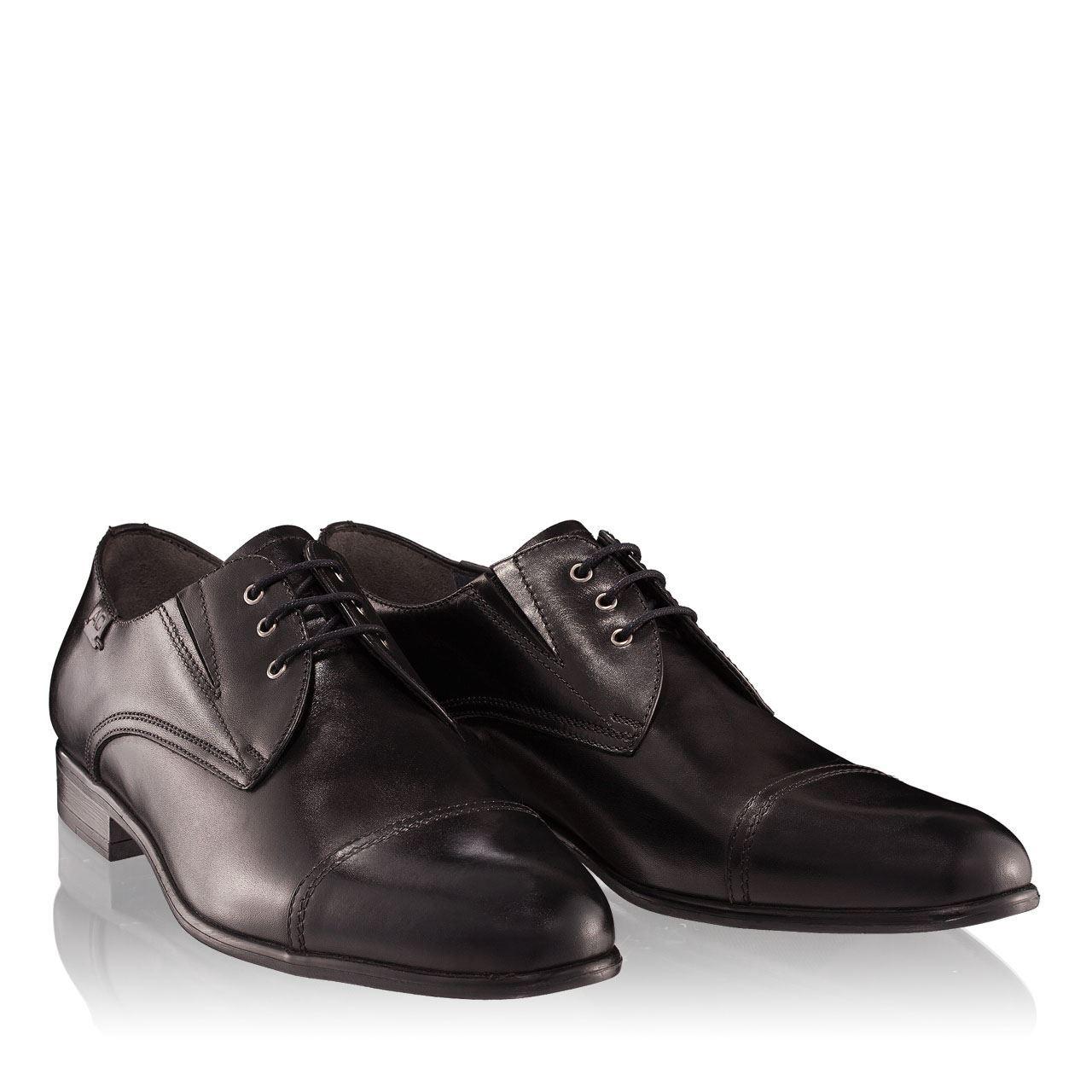 Pantofi barbati negri 2883 piele naturala