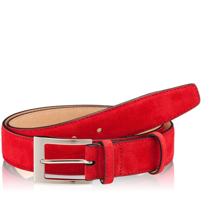Picture of Men Belt 83 Crosta Rosso