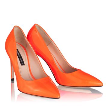 Pantofi Eleganti Dama 4532 Vernice Fluo Arancio