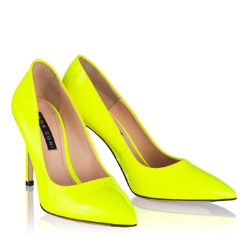 Pantofi Eleganti Dama 4532 Vernice Fluo Giallo