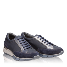 Pantofi Sport Dama 5706 Crosta+Tesut Blue