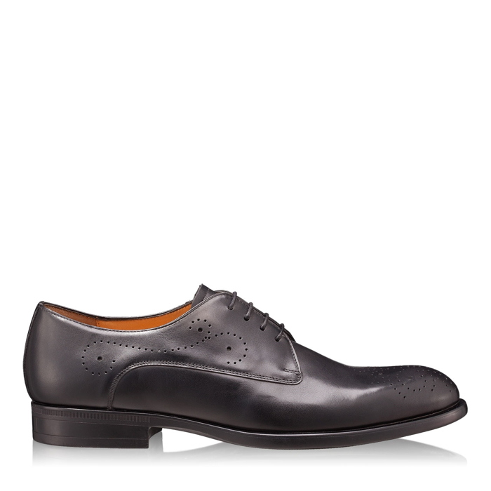 Imagine Pantofi Eleganti Barbati 6626 Vitello Negru