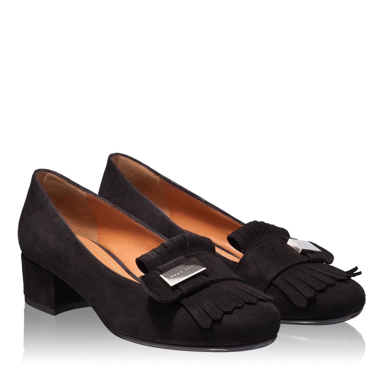 Imagine Pantofi Eleganti Dama 4669 Camoscio Negru