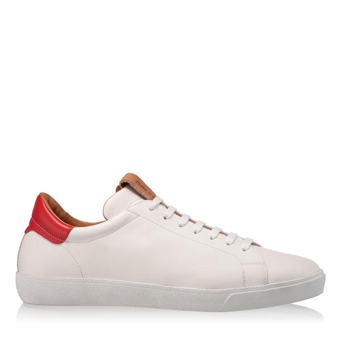 Imagine Pantofi Sport Barbati 6700 Vit Alb+Rosu