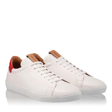 Pantofi Sport Barbati 6700 Vit Alb+Rosu