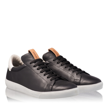 Pantofi Sport Barbati 6700 Vit Negru+Alb