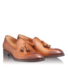 Pantofi Eleganti Barbati 6666 Vitello Cuoio