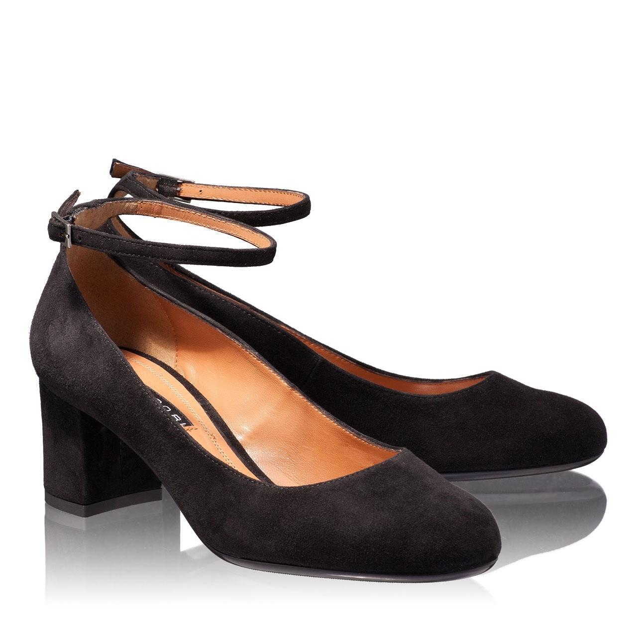 Imagine Pantofi Eleganti Dama 4685 Camoscio Negru