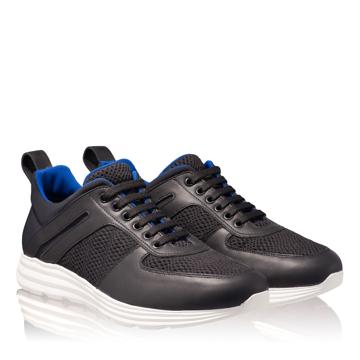 Pantofi Sport Barbati 6708 Vit+Rete Negru/Alb