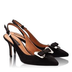 Pantofi Decupati Dama 4589 Camoscio Negru