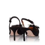 Imagine Pantofi Decupati Dama 4589 Camoscio Negru