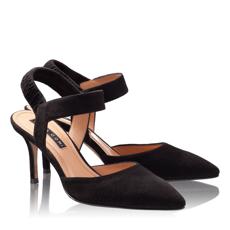 Pantofi Eleganti Dama 4592 Camoscio Negru