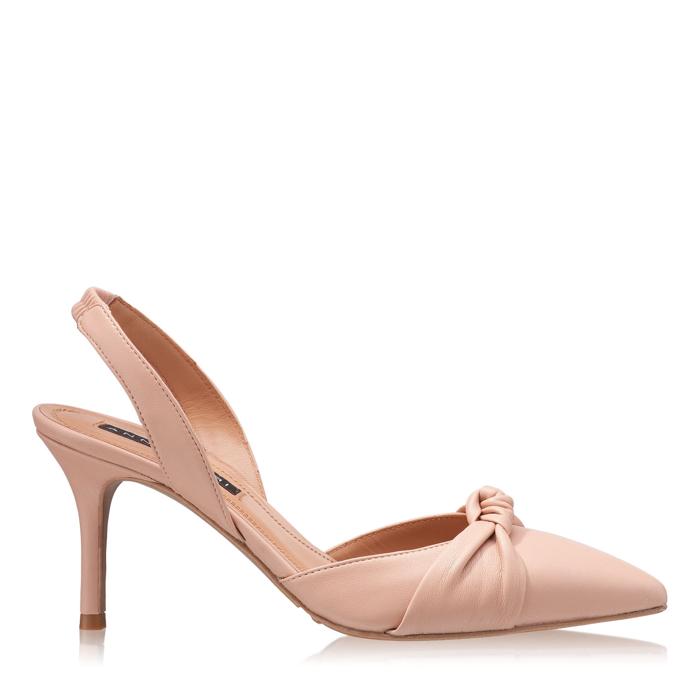 Imagine Pantofi Decupati Dama 4605 Vitello Nude