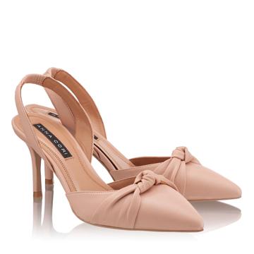Pantofi Decupati Dama 4605 Vitello Nude