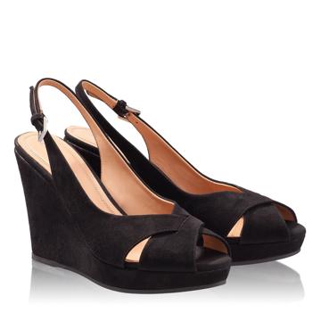 Sandale Dama 4610 Camoscio Negru