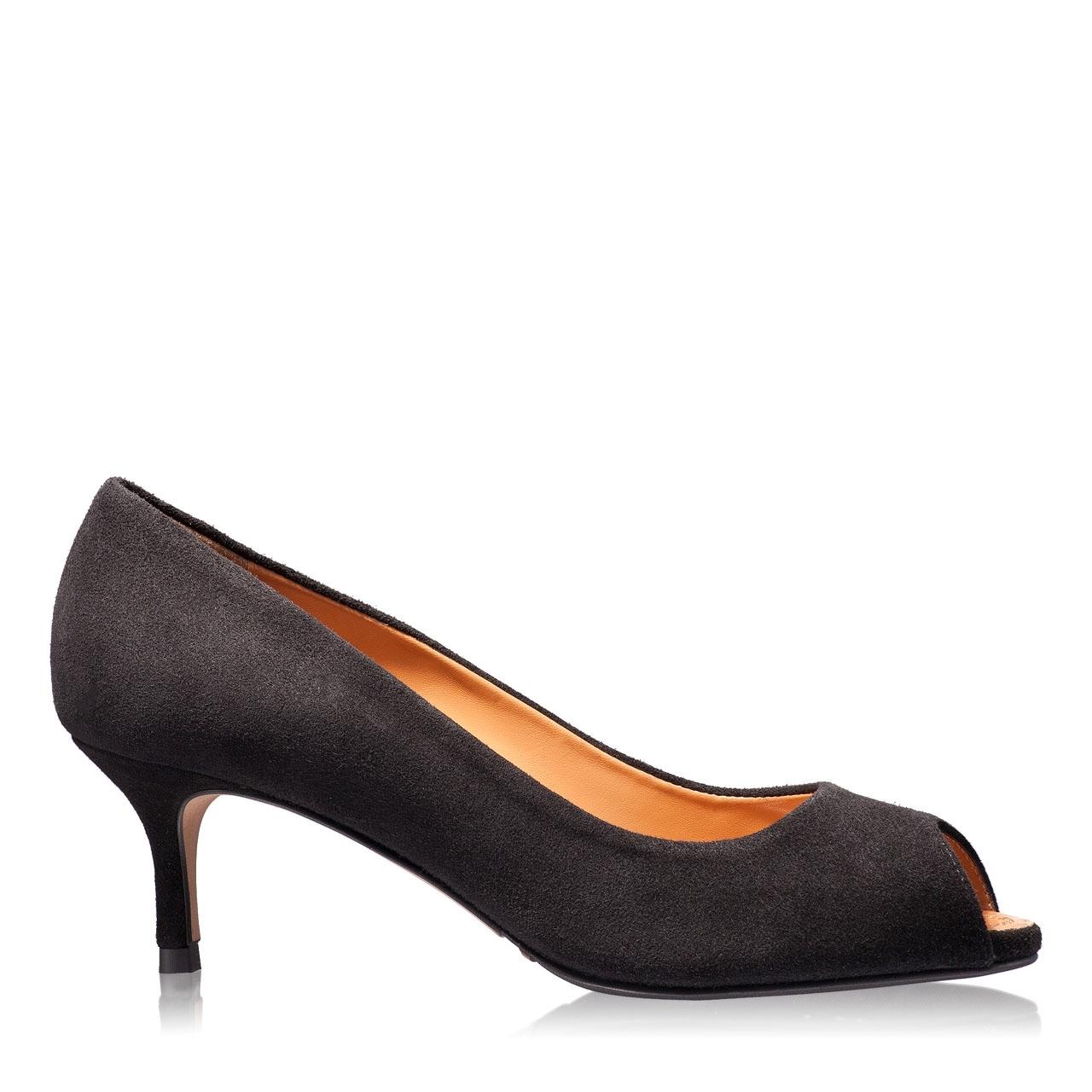 Imagine Pantofi Decupati Dama 4623 Camoscio Negru