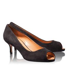 Pantofi Decupati Dama 4623 Camoscio Negru