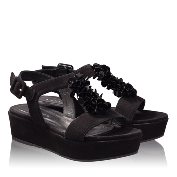 Sandale Dama 4659 Camoscio Negru