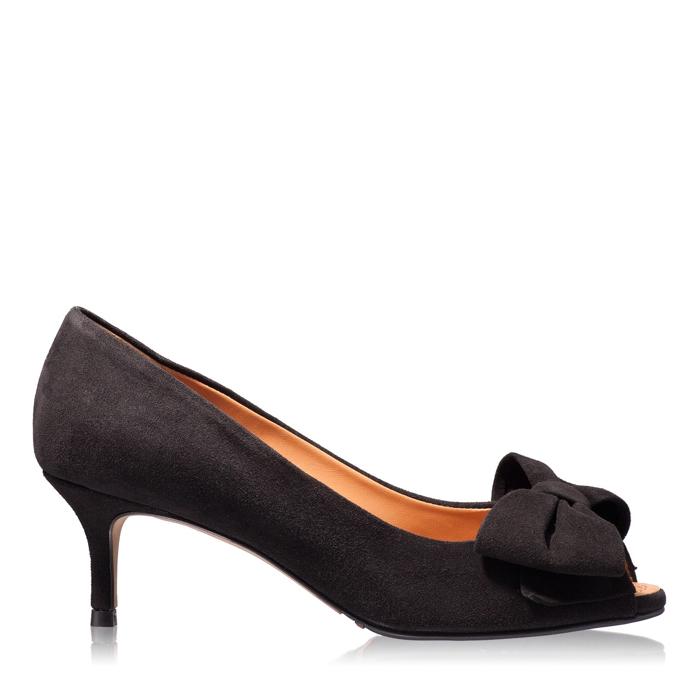 Imagine Pantofi Decupati Dama 4681 Camoscio Negru