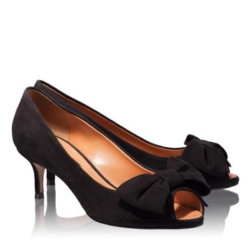 Pantofi Decupati Dama 4681 Camoscio Negru