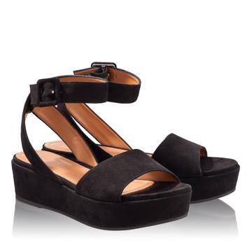 Sandale Dama 4848 Camoscio Negru