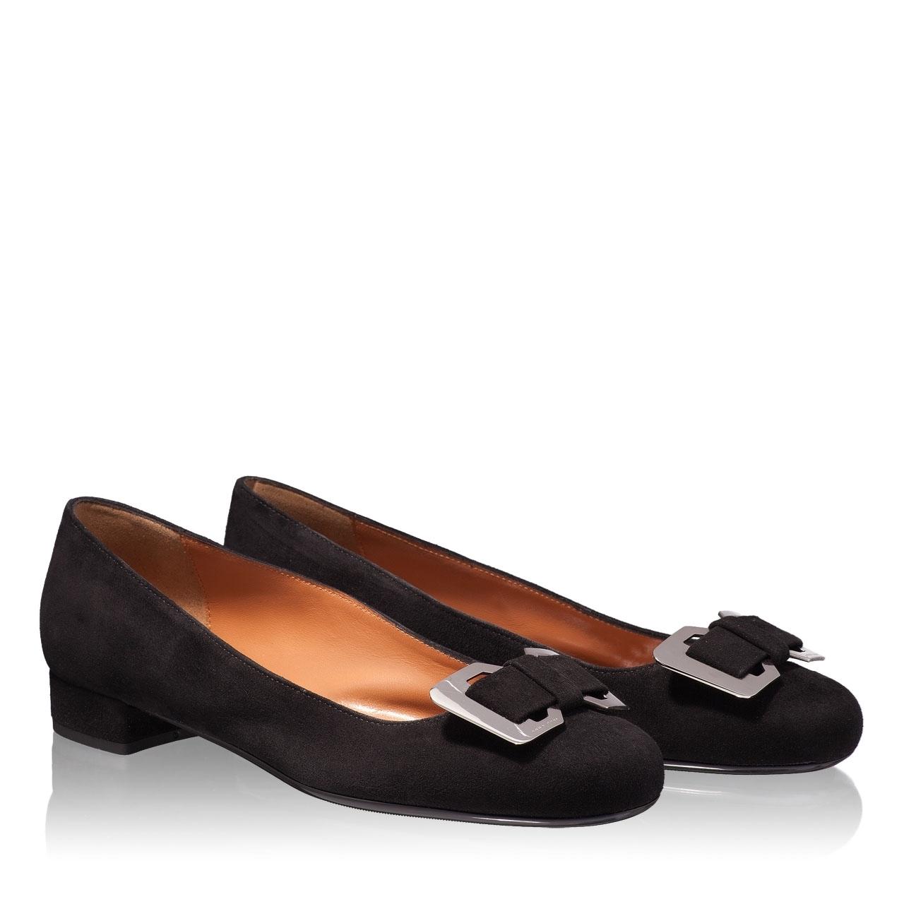 Pantofi Eleganti Dama 4706 Camoscio Nero