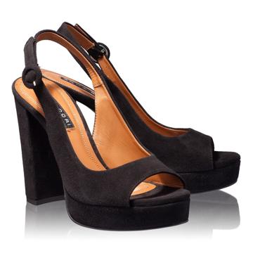 Sandale Dama 4636 Camoscio Nero