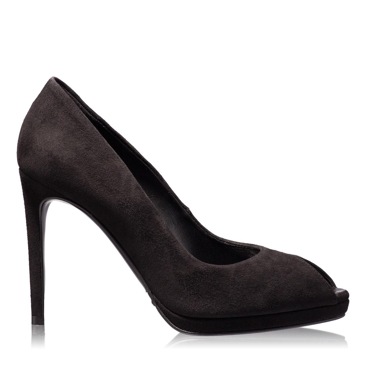 Imagine Pantofi Decupati Dama 4698 Camoscio Nero