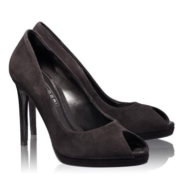 Pantofi Decupati Dama 4698 Camoscio Nero