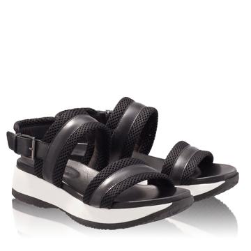 Sandale Dama 4811 Vitello+Tesut Negru