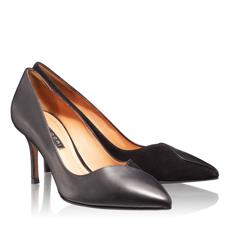 Pantofi Eleganti Dama 4871 Vit + Cam Negru
