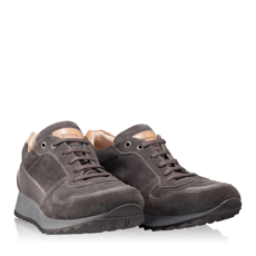 Pantofi Sport Barbati 2933 Vit+Velur Gri