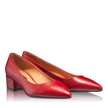 Pantofi Eleganti Dama 4767 Vitello Rosso