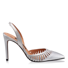 Imagine Pantofi Decupati Dama 5512 Vitello Argento