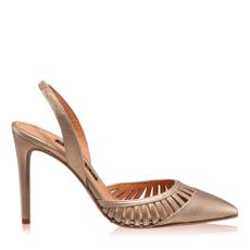 Imagine Pantofi Decupati Dama 5512 Vitello Oro