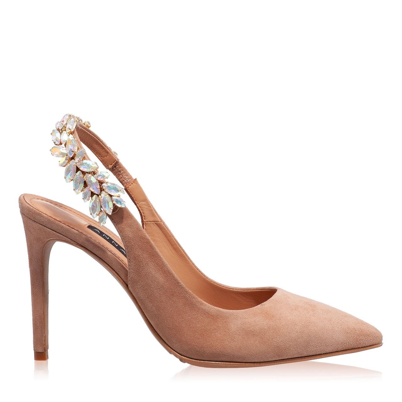 Imagine Pantofi Decupati Dama 5514 Camoscio Biscotto
