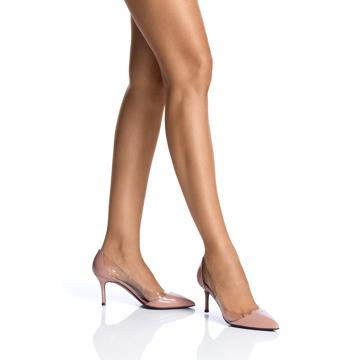 Pantofi Dama Eleganti 5525 Vernice Fard+Vinile