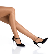 Pantofi Eleganti Dama 5517 Camoscio Negru