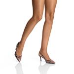Imagine Pantofi Decupati Dama 5728 Pitone Nude
