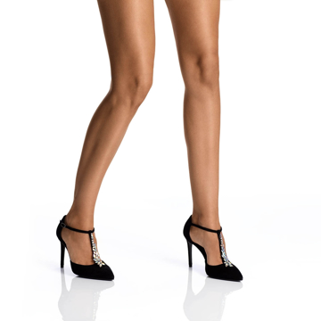 Pantofi Eleganti Dama 5513 Camoscio Negru