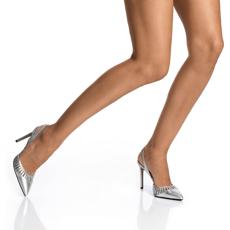 Pantofi Decupati Dama 5512 Vitello Argento