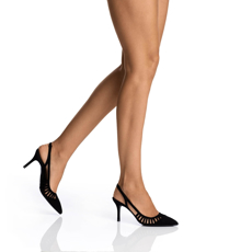 Pantofi Decupati Dama 5516 Camoscio Negru