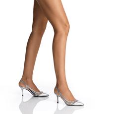 Pantofi Decupati Dama 5516 Vitello Argento