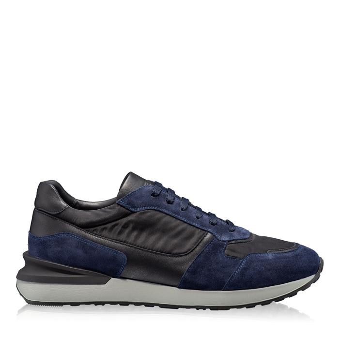 Imagine Pantofi sport 6901 Crosta Blue+Tesut Negru