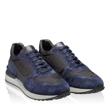 Pantofi sport 6901 Crosta Blue+Tesut Negru