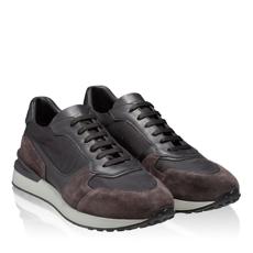 Pantofi sport 6901 Crosta Tdm.+Tesut Negru