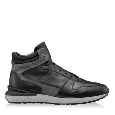 Imagine Pantofi sport 6903 Crosta Gri+Tesut Negru