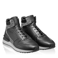 Pantofi sport 6903 Crosta Gri+Tesut Negru