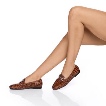 Pantofi casual dama 5666 Cocco Cuoio