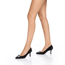 Pantofi eleganti dama 5575 Camoscio Negru
